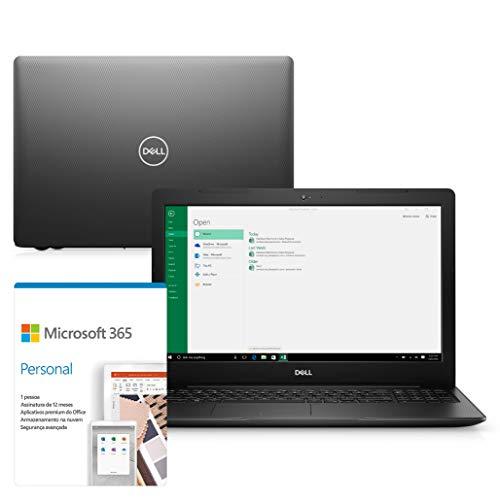 """Notebook Dell Inspiron i15-3584-AS40P 8ª geração Intel Core i3 4GB 128GB SSD 15.6"""" Windows 10 Preto"""