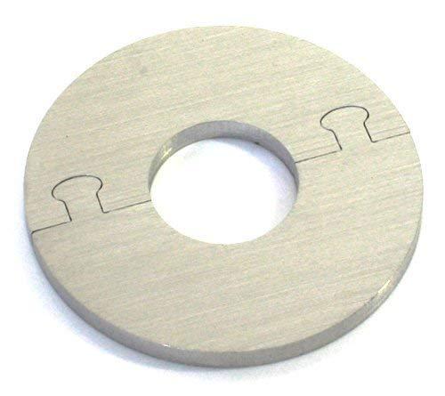 EXKLUSIVE EDELSTAHL rund Heizkörper Rosette - Einzelrosette für HEIZUNG Ø 12-28 mm (28 mm Rohrdurchmesser)