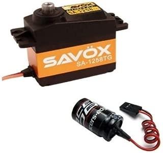 SAVO 1258TG SERVO Free Glitch Buster Titanium Gear Standar DIGITALCAPACITOR