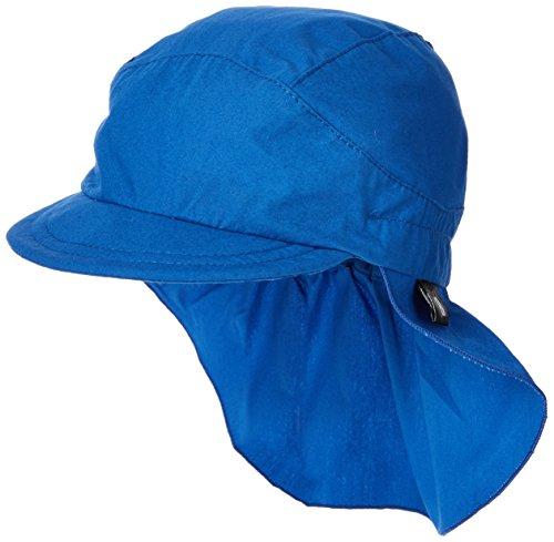 Sterntaler Unisex Schirmmütze mit Nackenschutz, Blau, 55 cm