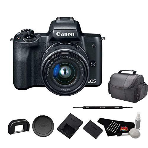 Canon EOS M50 Mirrorless Digital Camera with 15-45mm Lens and 4K Video 2680C011 Starter Bundle - International Model