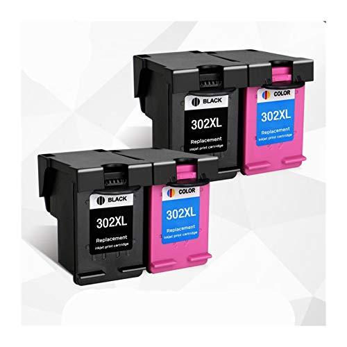 YYCH Tinta de Impresora Remanufactured 302xl Piezas de Repuesto para DeskJet 1110 1111 1112 2130 2131 Impresoras, adecuadas para HP 302 HP302 XL Cartuchos de Tinta Productos de Oficina