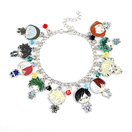 Phoetya Distinctive Charm Bracelets, Fabulous Anime My Hero Academia Multi Character Pendant and Bangles for Fans Souvenir Gifts