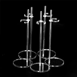 UCanaan 5 Pcs Doll Stands Kids Toys Accessories for 11.8 Inch Dolls Display Holder Suitable for 11''-13'' Dolls Transparent Stent Stand for Dolls