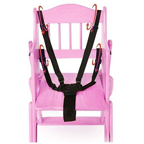 Cintura Sicurezza Bambini per Sedia con Imbottitura delle Spalle Cintura Passeggino, Seggiolone Cintura per Bambini, 5 punti di cintura sicurezza bambini passeggino