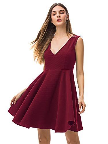Vestido Mujer Rojo Vestido Rockabilly Mujer Vestidos Años 50 Vestido Corto Mujer Falda Años 50 Vintage Vestido Retro...