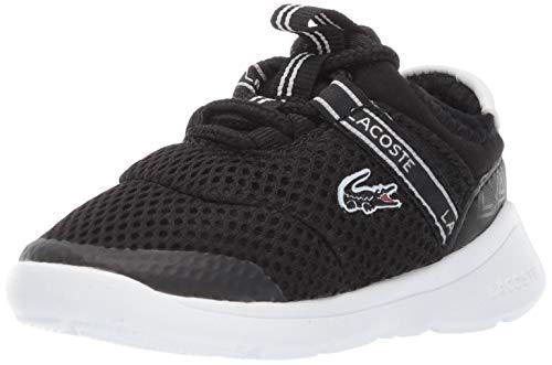 Lacoste baby boys Lt Dash Sneaker, Black/White, 8 Toddler US