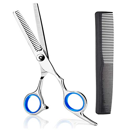 Thinning Shears Thinning Scissors 6.7 Inch Stainless Steel Hair Cutting Scissors Professional Haircut Trimming Texturizing Blending Scissors Barber Home Use Hairdressing Scissors for Women Men Kids