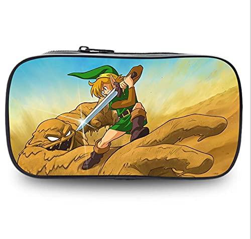 XINGSHENG Zelda - Estuche grande para lápices, suministros escolares, gran capacidad, bolsa para bolígrafos, almacenamiento con compartimentos y cremalleras para estudiantes de secundaria media