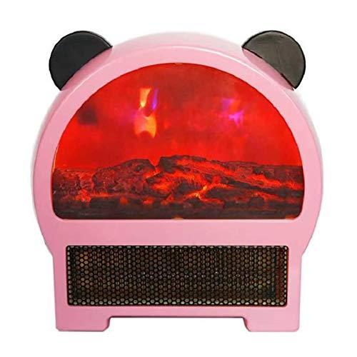 ESACLM Calefactor Baño PTC Calefacción de Cerámica Mini Calefactor con 3 Ajustes de Temperatura Protección contra para Hogar Oficina,Rosado