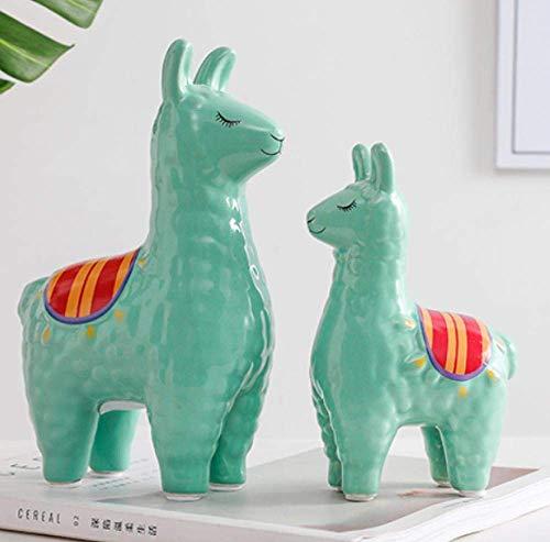 IREANJ Decoraciones del Arte del Arte de la Alpaca decoración de la Sala de Estar Hucha de cerámica de Escritorio de Oficina 1 Estudio en el hogar Decoración