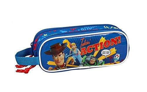Toy Story 4 Estuche portatodo Doble 2 Cremalleras Escolar, A