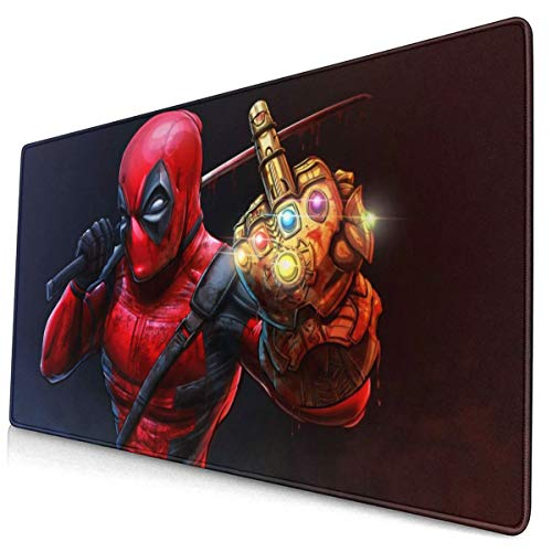 Large Gaming Mouse Pad DEA_DPO-Ol with Tha_Nos Infinity Gauntlet Mousepad Non-Slip Rubber Personalized Mousepad Rectangle Mouse Pads for Computers Laptop 30x15.7 Inch(75x40cm)