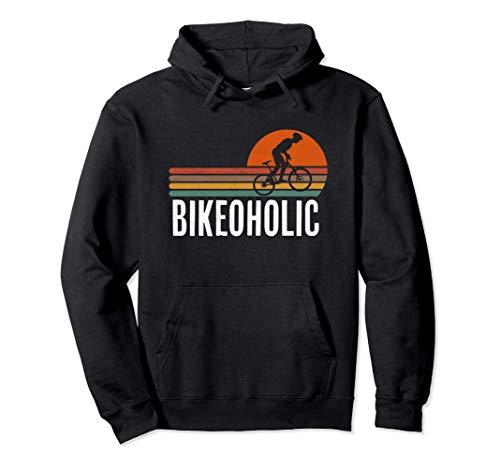 Mountain Bike Bikeoholic MTB Regalo per il ciclista Felpa con Cappuccio