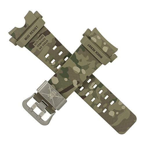 Correa de reloj Casio GG-B100BA GG B100 camuflaje del ejército británico
