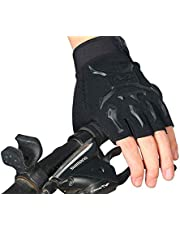 Cycling Gloves Gym Weight Lifting Body Building Exercise Workout Semi Finger Gloves