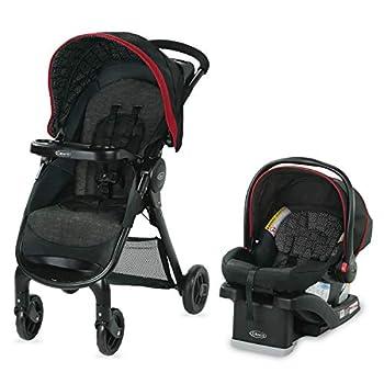 Graco FastAction SE Travel System   Includes FastAction SE Stroller and SnugRide 30 LX Infant Car Seat Hilt