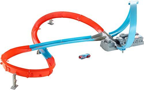 Hot Wheels GGF92 - Rennstrecke mit 8er Kurve, Spielzeug ab 5 Jahren