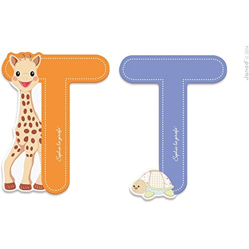 Janod LETRA Serie Sophie LA Girafe (Bois) - T (J09564), Multicolore (1