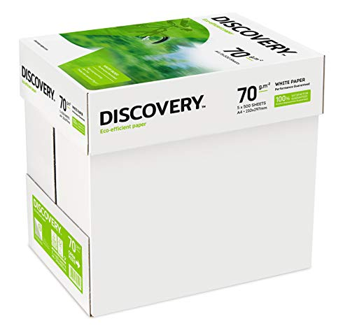 Discovery 70-g/m²-Papier in A4-Format 70 g/m² 5 x Reams (2,500 Sheets) - 1 x Box
