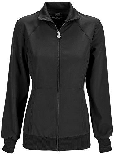 Cherokee Women's Infinity Zip Front Warm-Up Jacket, Black, X-Large