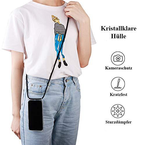 tradespeople Handykette geeignet für Huawei Mate 20   Smartphone Necklace Hülle mit Band   Schnur Kordel mit Case zum Umhängen   schwarz - 3