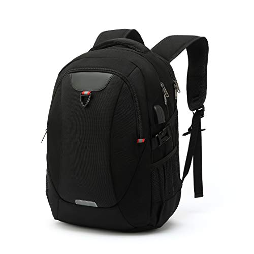 Ronze Laptop Backpack, School Backpack with USB Charging Port and Headphone Port