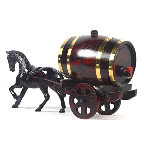 DECANTER creatività Barilotto di Whisky 3L / 5L Barilotti di Invecchiamento del Legno Dispenser Benna del Vino Nessuna Perdita per Stoccaggio Spirits Whisky JXLBB (Size : 3L)