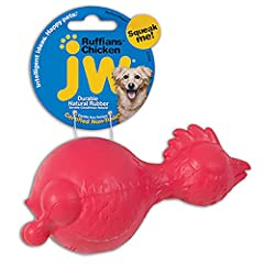 Bouncy Dog Chew Toy: Bowl your dog over with this durable, squeaky, bouncing dog toy. Great for fetch or solo play, unique weighting and shape makes for unexpected rolling patterns. Easy to pick up, throw, and carry Entertaining and Enriching: This e...