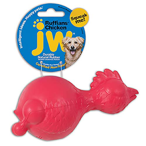 JW Pet Ruffians Dog Fetch and Chew Toy, Chicken