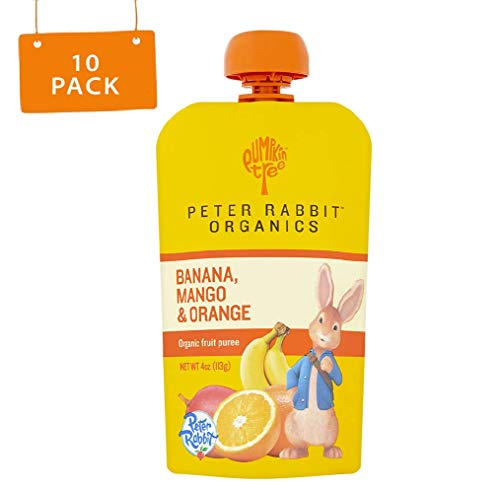 Peter Rabbit Organics Mango, Banana and Orange Snacks, 4-Ounce (Pack of 10)