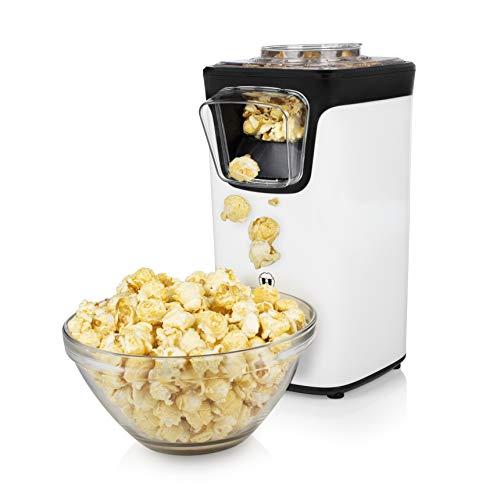 Princess Popcornmaschine - Popcorn per Heißluft, mit transparentem Deckel, Nachfüllöffnung, 1100 Watt, 292986