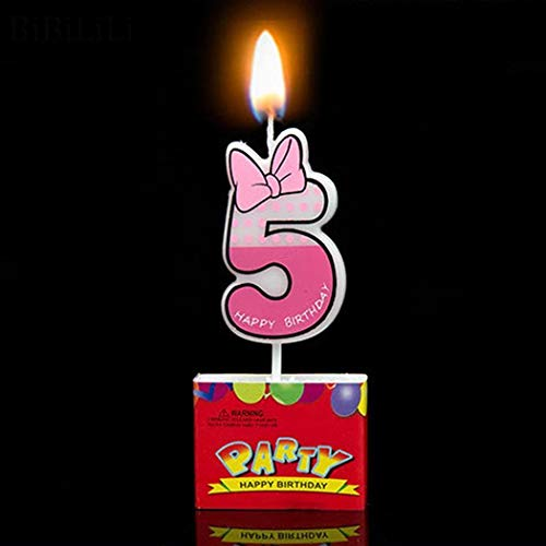 NO BRAND La Vela 0-9 Linda del ratón Decoración Día Número Partido de la Torta de la Vela Imagen Feliz cumpleaños Dibujos Animados 9 Mostrar como Imagen de la Magdalena (Color : 5)