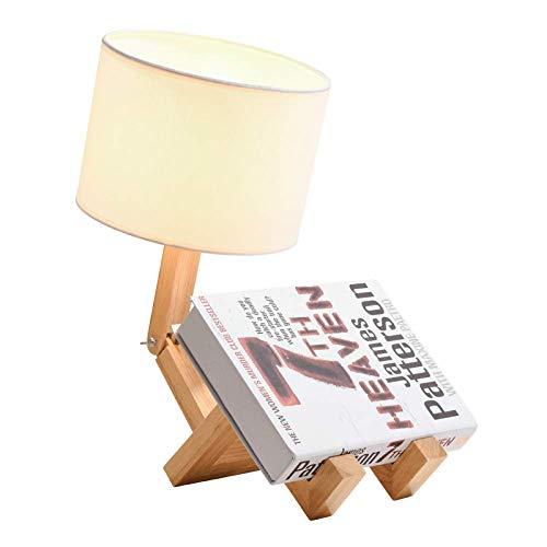ZYC-WF Massivholz Tischlampe Kreative Warme Nachttisch Nachtlicht Holz Kunst PersöNlichkeit Schlafzimmer Lampen Durch Den Hochwertigen Beleuchtungsstil Verlieben Sich Kinder in Das