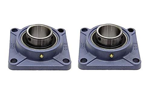DOJA Industrial | Rodamientos con Soporte UCF 204 | Cojinetes de Bolas para Eje de 20mm | Pack de 2 unidades | Principales usos: Fresadoras, Impresora 3D, Bricolaje.