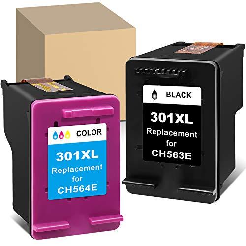 ATOPolyjet Remanufactured for HP 301 XL 301XL Cartucce Stampante (1 Colore & 1 nero) per Deskjet 1000 2050 2510 2540 3000 3050 Envy 5530 4500 4507 5532 4502 5534 4504 Officejet 2620 2622 4630 4632