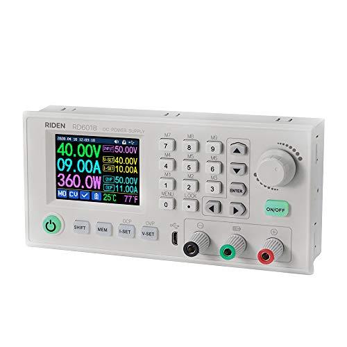 VISLONE Labor-Stromversorgungen RD6018 18A Konstantspannung und Konstantstrom Gleichstromversorgungsmodul Tastatur PC Software Steuerspannungsmesser