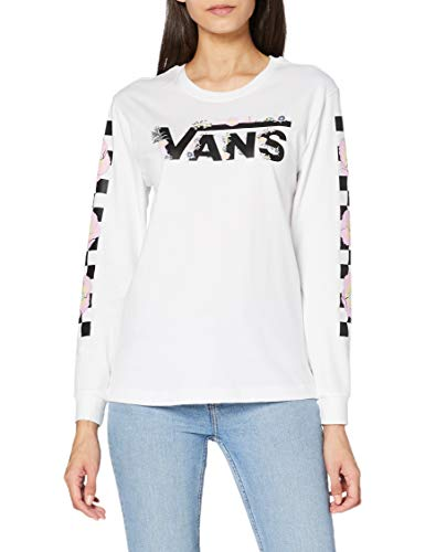 Vans Damen TROPPY V T-Shirt, weiß, M