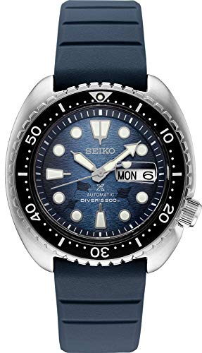 Seiko Prospex Special Edition SRPF77 Reloj de buceo automático de silicona azul con fecha de día