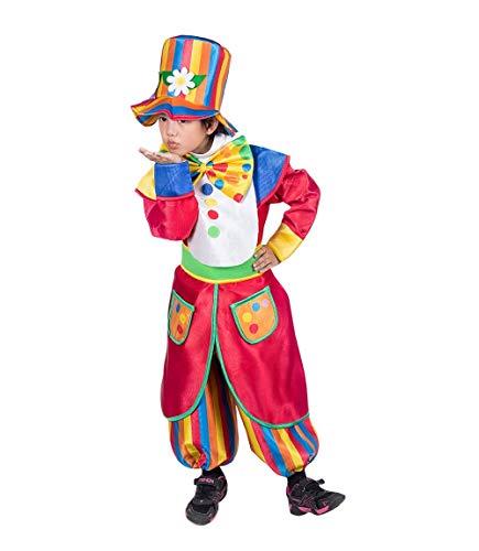Seruna Disfraz de Payaso F138 Tamaño 5-6 años (110-116 cm), Trajes de niños y niñas, para el Carnaval, también Adecuado como Regalo de cumpleaños
