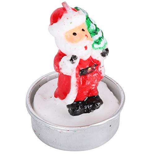 Gaeirt Small Santas Candle 4Pcs/Set for Travel Commemoration