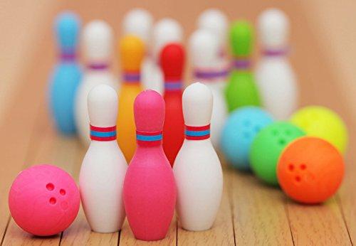 Iwako Radiergummi japanische / 3 Bowling Pins + 1 = 1 Bowlingkugel-Set (5 Nicht-Sets) mit 4 Stück - Farbe zufällig gesendet.