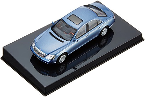Maybach 57 Diecast Car Model 1/43 Cored Azure Blue Middle/Coted Azure Blue Bright Metallic Die Cast Car by Autoart (japan import)