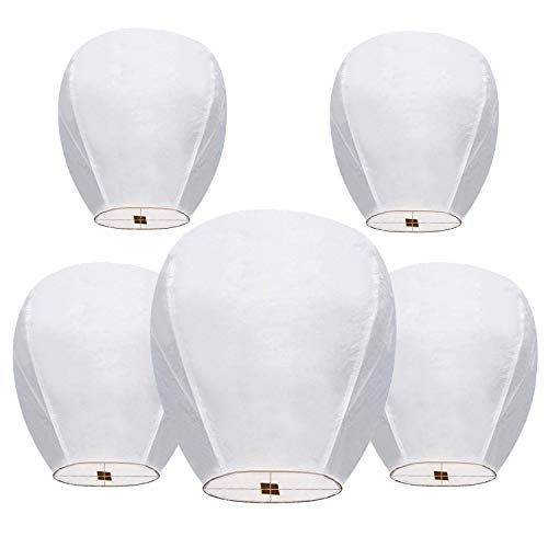 5 Pack Chinese Lanterns 100% Biodegradable,...