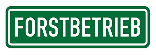 LOHOFOL Magnetschild Forstbetrieb | Schild magnetisch | Weiss/grün, lieferbar in DREI Größen (35 x 10 cm)