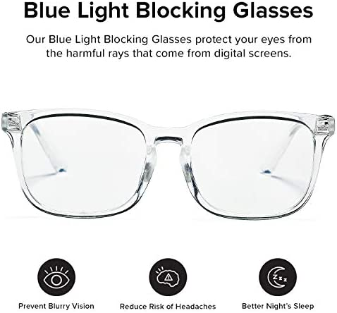 Clear plastic frame glasses _image1