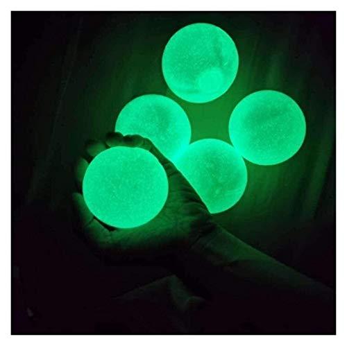 5 PCS Bolas De Pared Pegajosas 4.5 Cm Bolas De Techo Techo Estrés Luminoso Bolas De Alivio Bolas Brillantes Bolas De Descompresión Juguetes para ADHD OCD Ansiedad Niños Adultos