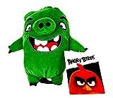 Rovio Angry Birds - Peluche de Angry Birds (con colgante, clip, llavero, aprox. 13 cm, para mochila, mochila escolar)