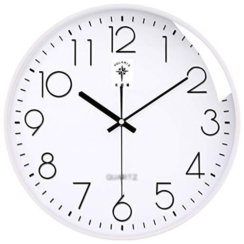 Art wall-clock XZGang Stille Wanduhr, Farbe Border Dreidimensionales Font Wanduhr Shop Wanduhr Klassenzimmer Wanduhr, 10/12/14/16 Zoll -Dekorate Ort des Lebens (Color : C, Size : 35 * 35cm)
