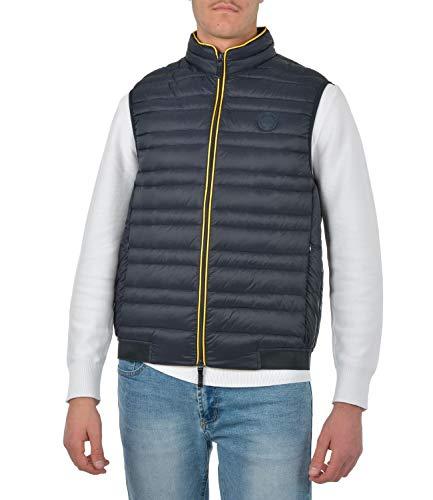 Armani Exchange A| x Zip Up Vest Chaleco de plumas, Marineblau/Löwenzahn, XXL para Hombre